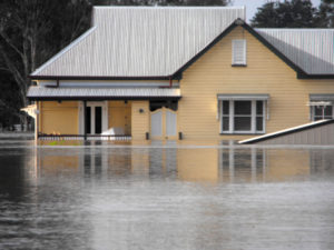 Flooded home is at risk for a mold problem.